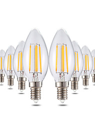 cheap -4W E14 LED Candle Lights C35 4 leds COB Dimmable Decorative Warm White 300-400lm 2800-3200K AC 220-240V