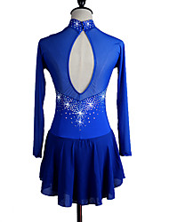 Women's Girls' Figure Skating Dress Ice Skating Dress Long Sleeves Quick Dry Anatomic Design Stretch Sweat-wicking smooth Comfortable