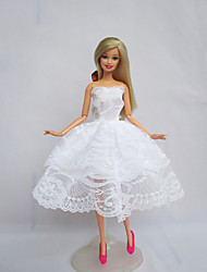 cheap -Party/Evening Dresses For Barbie Doll White Dress For Girl's Doll Toy