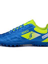 baratos -Homens sapatos Couro Ecológico Primavera Outono Conforto Tênis Futebol Cadarço para Atlético Casual Preto Vermelho Verde Azul
