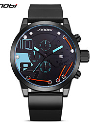SINOBI Men's Sport Watch Fashion Watch Wrist watch Unique Creative Watch Japanese Quartz Calendar Chronograph Shock Resistant Large Dial