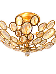 cheap -LightMyself 3 Lights Golden Modern Crystal Ceiling Lamp Indoors Lights  for Living Room Bedroom Dining Room