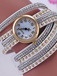 Women's Bracelet Watch Digital Metal Band Black White Red Brown Grey Pink Rose