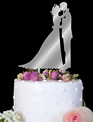 Cake Topper Wedding Birthday High Quality Plastic Wedding Birthday Party/Evening With PVC Bag