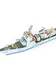 abordables -Puzzles 3D Puzzle Kit de Maquette Navire de Guerre Porte-avion Bateau 3D A Faire Soi-Même Papier de haute qualité Classique Garçon Unisexe