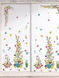 abordables -Mode Floral A fleurs/Botanique Stickers muraux Autocollants avion Autocollants muraux décoratifs, Vinyle Décoration d'intérieur Calque