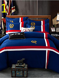 Flag 4 Piece Cotton Cloth Machine Made Cotton Cloth 1pc Duvet Cover 2pcs Shams 1pc Flat Sheet