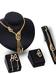 cheap -Women's Jewelry Set - Rhinestone, Gold Plated Statement, Personalized, Luxury Include Gold For Party Special Occasion Housewarming