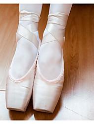 cheap -Women's Ballet Shoes Lace / Silk / Fabric Flat Flat Heel Customizable Dance Shoes Pink / Practice