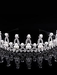 Crystal Imitation Pearl Rhinestone Alloy Tiaras Headpiece