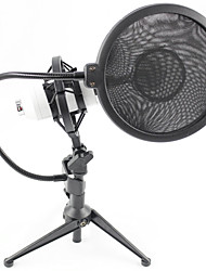 cheap -Professional Sound Studio Recording Condenser Microphone with  Stand Holder and Pop Filter
