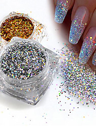 cheap -1pcs Glitter Powder Sequins Elegant & Luxurious Nail Glitter Sparkle & Shine Nail Art Design
