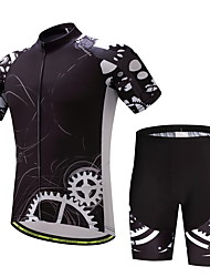 cheap -Cycling Jersey with Shorts Men's Short Sleeves Bike Clothing Suits Anti-slip Strap Well-ventilated Wicking Softness Polyester LYCRA®