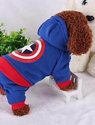 economico -Cane Costumi Abbigliamento per cani Cosplay Tenere al caldo Americano / Stati Uniti d'America Costume Per animali domestici