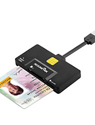 cheap -Rocketek USB 2.0 Smart Card Reader DOD Military CAC Common AccessBank card ID SD Micro SD/TF MMC M2sim card adapter SCR11