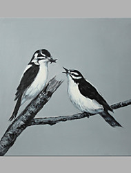 cheap -IARTS® Oil Painting Love Bird on A Branch Wall Art Acrylic Canvas Wall Art For Home Decoration