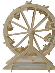 cheap -Toy Cars 3D Puzzles Jigsaw Puzzle Windmill Wood Model Windmill 3D DIY Wood Classic Unisex Gift