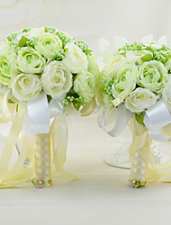 YuXiYing Hemispherical Dew Lotus Wedding Bride Bouquet  A Large And Small Set