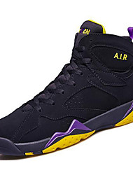 cheap -Unisex Shoes Synthetic Fall Winter Comfort Athletic Shoes Basketball Shoes for Athletic Casual Outdoor Black Light Purple