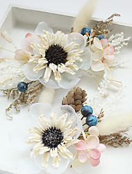 cheap -Chiffon / Basketwork / Lace Flowers / Hair Clip with 1 Wedding / Special Occasion / Birthday Headpiece