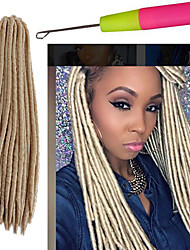cheap -Crochet Faux Locs Hair Burgundy Blonde blue purple Brown Black 14 18 inch Kanekalon Synthetic Crochet Braids dreadlocsHair 1pc synthetic hair braiding