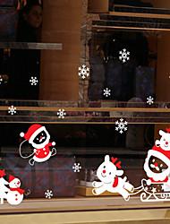 Window Film Window Decals Style Merry Christmas Little Deer PVC Window Film