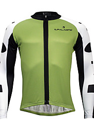 economico -KEIYUEM Per uomo / Per donna Manica lunga Maglia da ciclismo - Nero / Rosso / Verde Bicicletta Asciugatura rapida, Design anatomico,