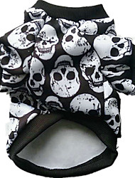 Chien Costume Vêtements pour Chien Cosplay Halloween Crânes Blanc Noir Arc-en-ciel