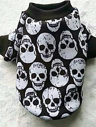 Chien Manteaux Sweatshirt Vêtements pour Chien Décontracté / Quotidien Crânes Blanc Noir Noir/Blanc Arc-en-ciel