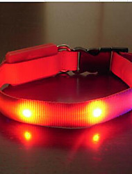 Collar Portable Adjustable LED Light Safety Solid Nylon