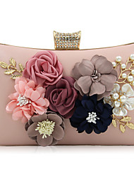 cheap -Women's Bags PU Evening Bag Rhinestone Beading Petal Flower for Wedding Event/Party Casual Formal Office & Career All Seasons White Black