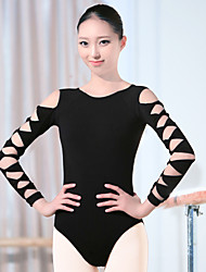 cheap -Shall We Ballet Leotards Women's Training Spandex 1 Piece Long Sleeve High