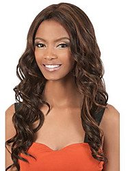 Black Brown Body Wave Wig Sexy Fashion Natural Wig for Women Hot Design High Quality Heat Resistant Synthetic WIgs