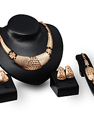 cheap -Women's Gold Plated Luxury Jewelry Set - Personalized Luxury Vintage Statement Euramerican Fashion Others Geometric Jewelry Set For Party