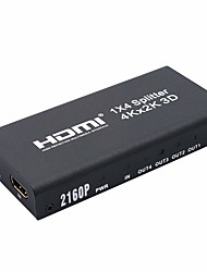 cheap -4K HDMI 1x4 2160P Splitter Full HD 1080P Amplifier HDMI Switch Switcher 1 in 4 Out Converter Adapter for HDTV DVD PS3 PS4