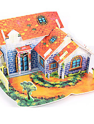 cheap -3D Puzzles Jigsaw Puzzle Paper Model Model Building Kit House Architecture 3D DIY High Quality Paper Classic Boys' Unisex Gift