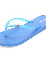 cheap -Women's Sandals Comfort Summer PU Outdoor Black Ruby Blue Flat