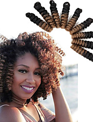 cheap -Bouncy Curl crochet hair twist 20inch black/burgundy saniya curl Synthetic kanekalon braiding hair bouncy twist Freetress Braid Kinky Twisted