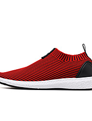 Men's Sneakers Comfort Light Soles Summer Fall Knit Casual Party & Evening Outdoor Office & Career Black Gray Ruby Green Flat