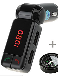 BC06 Bluetooth Handsfree Car Charger MP3 Player FM Transmitter with Compass