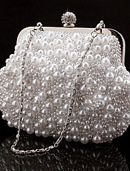 Women Bags All Seasons Special Material Evening Bag Rhinestone Chain for Wedding Event/Party Formal White Black Beige