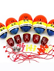 5set/lot High Quality Fishing Float Bobber 0.5# 0.8# 1# 1.5# 2# ABO Floating Pot-bellied Flats / Ocean/Sea Rock Fishing Buoy