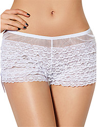 cheap -Women's Sexy Lace Underwear Ultra-thin Briefs Low Waist Nightwear Panties Plus Size S-6XL