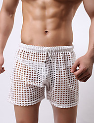 Men's Low Rise Micro-elastic Shorts Pants,Sexy Loose Cut Out Ripped Solid