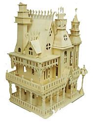 baratos -Quebra-Cabeças 3D Quebra-Cabeça Modelos de madeira Brinquedos de Montar Construções Famosas Casa Faça Você Mesmo Madeira Clássico Adulto