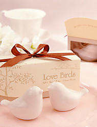 cheap -Beter Gifts®Love Birds Salt and Pepper Shakers Set Wedding Favors
