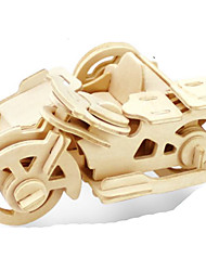abordables -Puzzles 3D Puzzle Puzzles de Metal Maquetas de madera Juguetes de construcción Motocicleta 3D Manualidades Madera Madera Natural Clásico