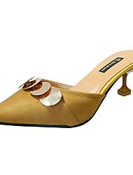 preiswerte -Damen Schuhe Paillette Nubukleder PU Sommer Pumps High Heels Walking Stöckelabsatz Spitze Zehe Paillette für Normal Kleid Draussen