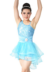 MiDee Ballet Dresses Women's / Children's Performance Spandex /Crystals/Rhinestones / Paillettes / Ruffles / Sequins2