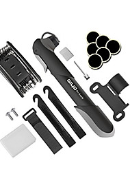 cheap -Multi Function Bike Bicycle Tire Repair Tools Kit Mini Bike Pump & Glueless Puncture Repair Kit 120 PSI Bicycle Tire Pump Fits Presta & Schrader Valve